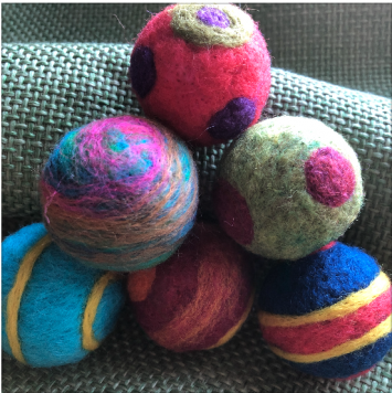 Cat Ball, felted wool