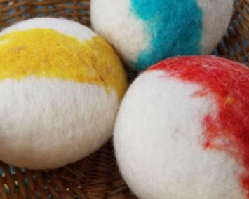 Dryer Balls, felted wool