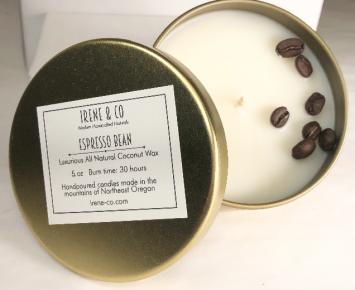 Candle small, espresso bean