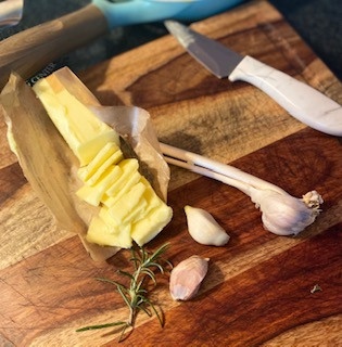 Garlic-Rosemary Compound Butter