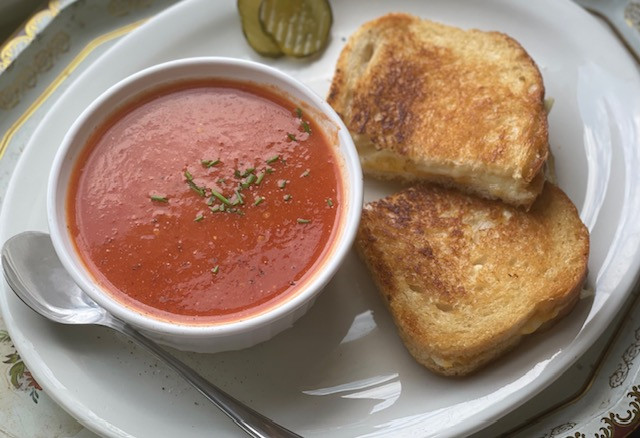 30-Minute Tomato Soup and Grilled Cheese
