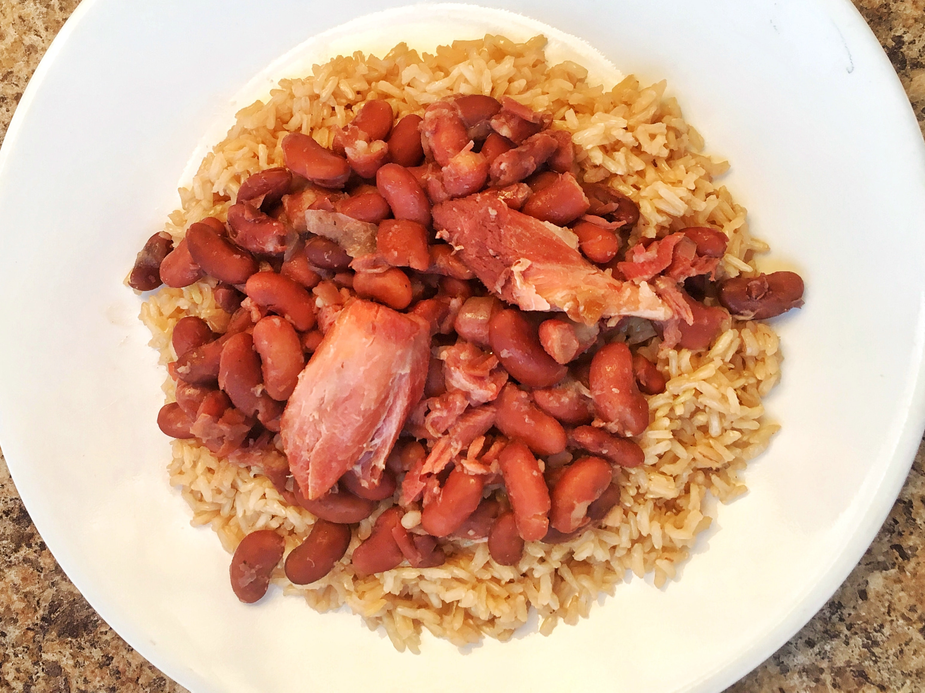 Red Beans & Rice with Fresh Ham Hock