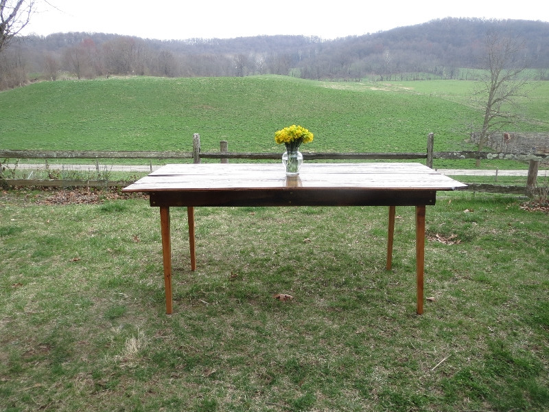HERITAGE TABLE: THIS WEDDING GIFT TO MY SON, Made during the course of the winter,