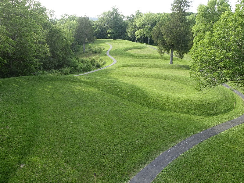SUMMER SOLSTICE: THE TIMELESS SERPENT OF THIS MOUND HONORS THE SUMMER SOLSTICE.