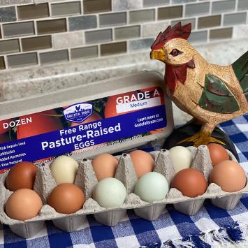 1 Dozen Medium Grade A Eggs