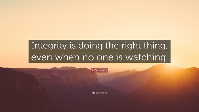 Lewis Quote On Integrity