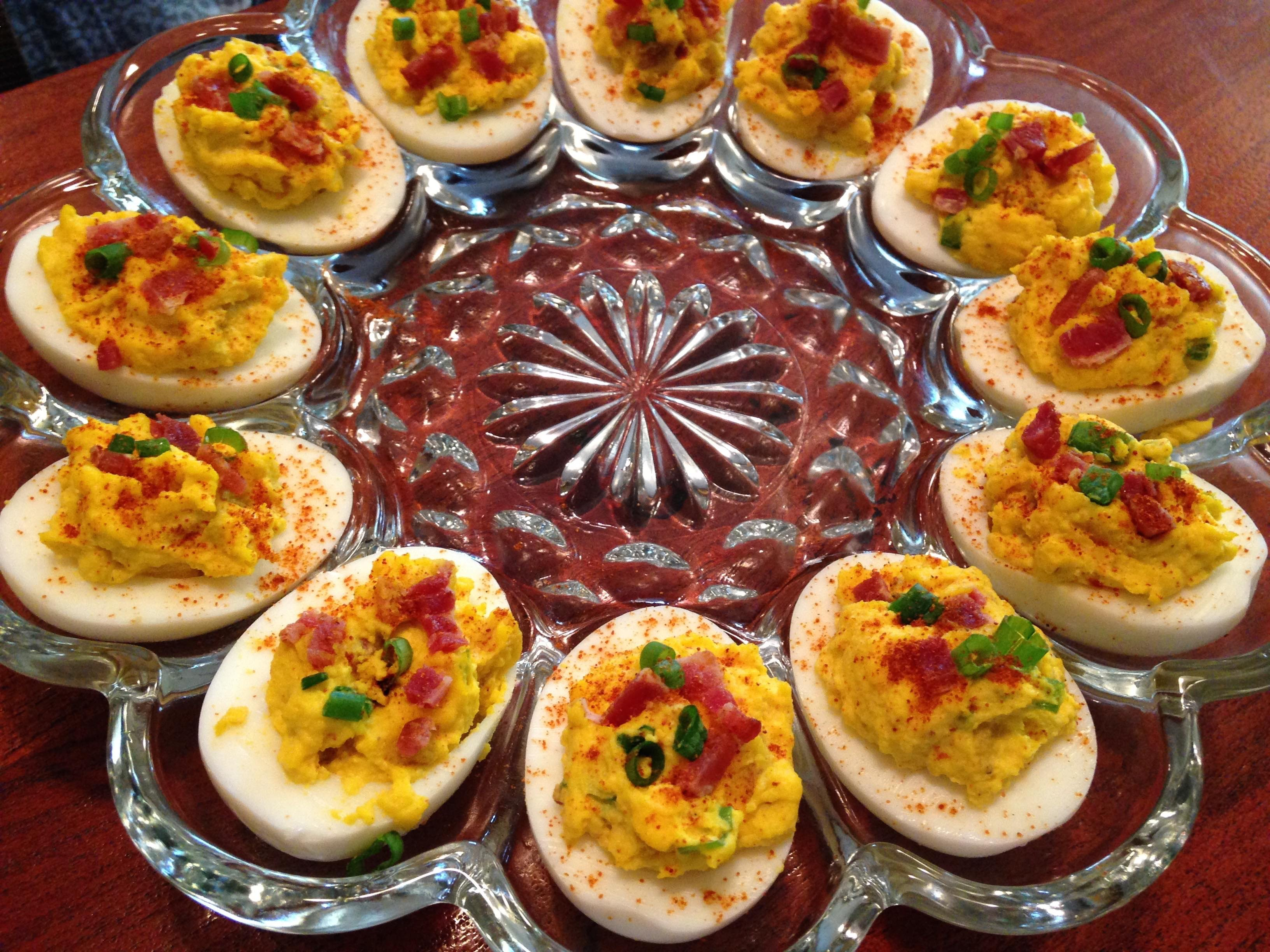 Deviled Eggs with Pork Belly