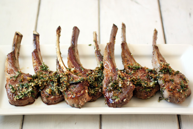 Pan Seared Lamb Chops with Rosemary and Garlic