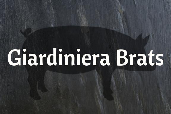 Giardiniera Brats