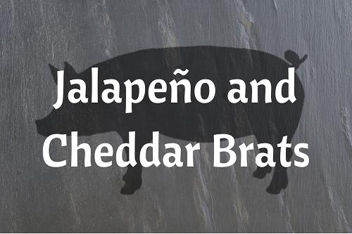 Jalapeño and Cheddar Brats