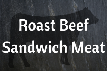 Roast Beef Sandwhich Meat