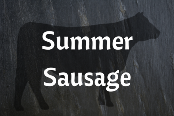 Summer Sausage - Aleppo Pepper and Orange