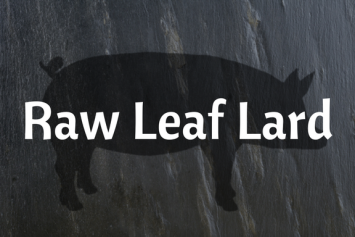 Raw Leaf Lard