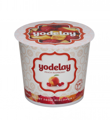 Yodelay Yogurt - Peach Raspberry