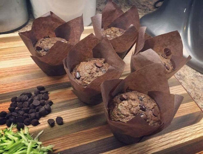 Double Chocolate Zucchini Muffin (3 muffins)