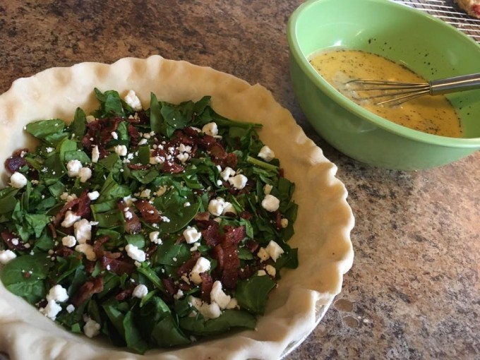 Bacon, Spinach, Goat Cheese Quiche