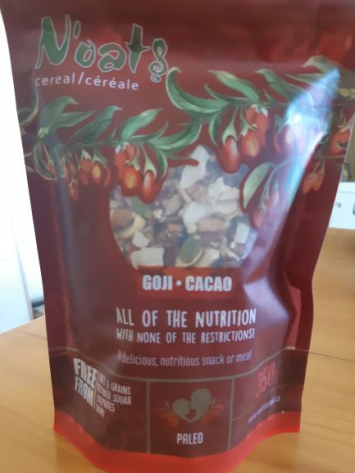 N'oats Cereal - Goji - Cacao