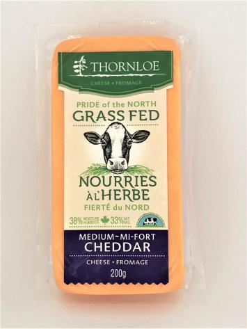 Thornloe Grassfed Medium Cheddar Cheese