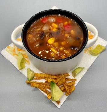 Black Bean Salsa Soup