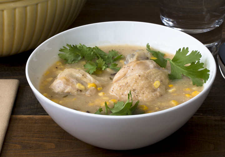 Chicken Quarter & Sweet Corn Soup