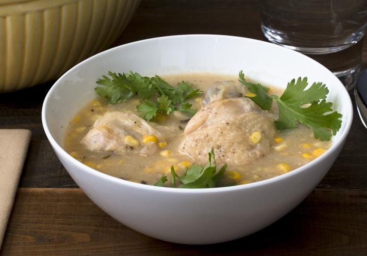Chicken Quarter & Sweet Corn Soup