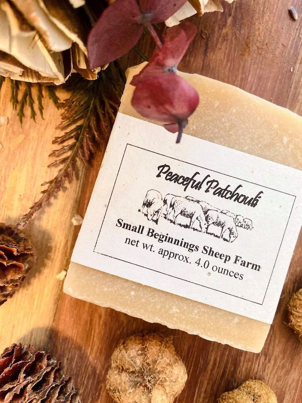Soap: Raw Sheep's Milk - Peaceful Patchouli