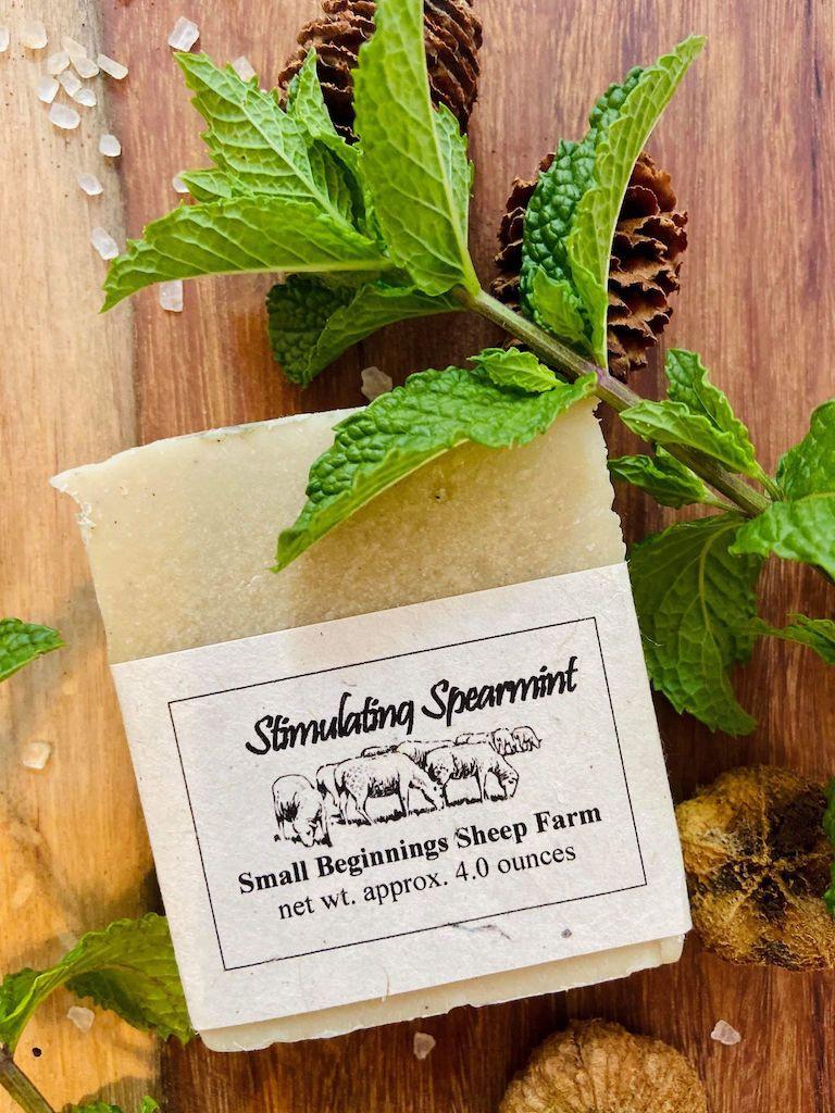 Soap: Raw Sheep's Milk - Stimulating Spearmint
