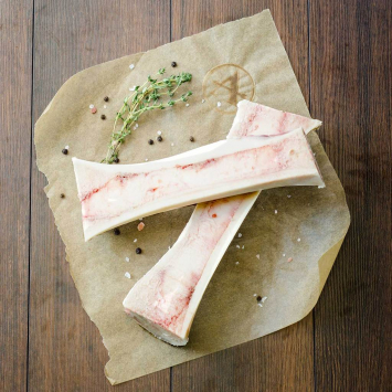 Beef Marrow Bones 2 Pack (Canoe Cut)