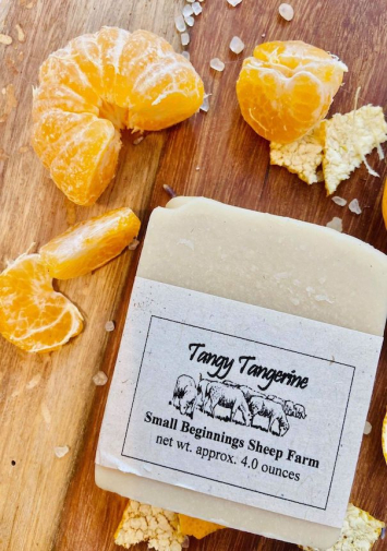 Soap: Raw Sheep's Milk - Tangy Tangerine