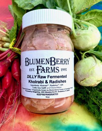 Raw Fermented DILLY Kohlrabi & Radishes
