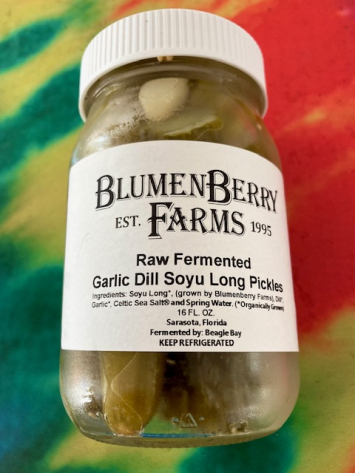 Raw Fermented Garlic Dill Suyo Long Pickles