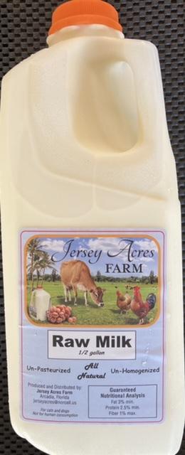 Raw Milk - Half Gallon