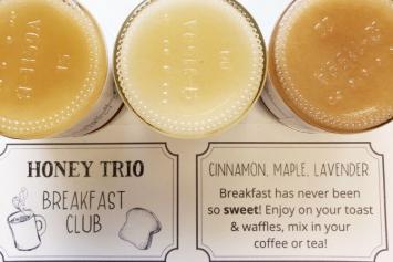 Breakfast Club Honey Trio (Lavender, Cinnamon, Maple)