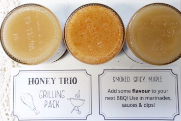Grilling Pack Honey Trio (Smoked, Spicy, Maple)
