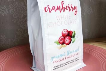 Cranberry White Chocolate Waffle Mix