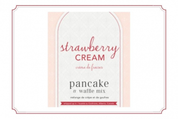 Waffle Mix Strawberry Cream