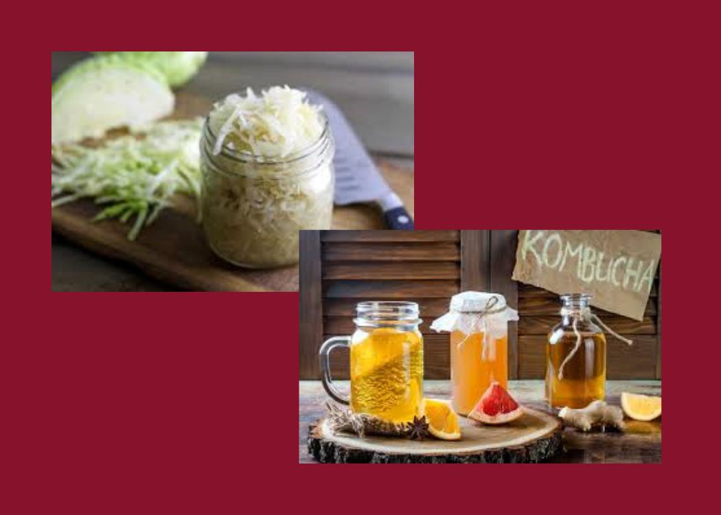 Sauerkraut & Kombucha