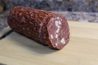Beef Summer Sausage / Jalapeño and Cheese / Small Diameter