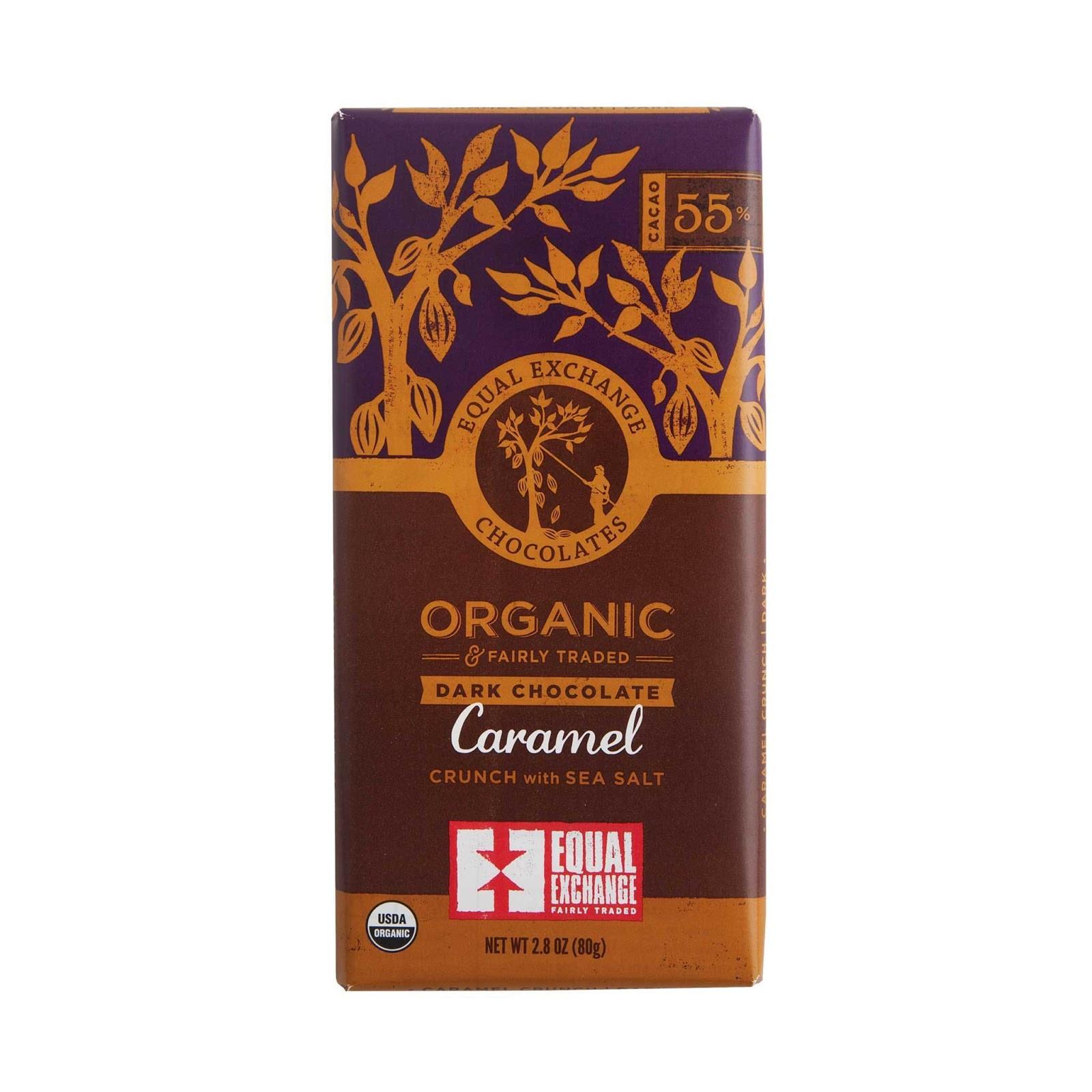 Organic Dark Chocolate Caramel Crunch {55% Cacao}