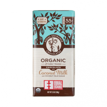 Organic Chocolate with Coconut Milk {55% Cacao}