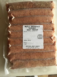 BREAKFAST SAUSAGES: MAPLE - 100% Heritage Pork (9pack)