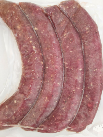 SAUSAGES, BEEF: HOT ITALIAN - 100% Grass-fed Beef (4 PACK)
