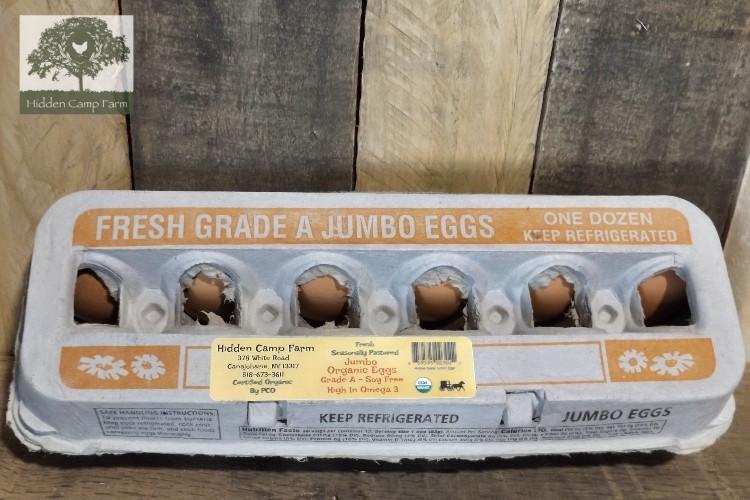 Organic Soy-free Jumbo Eggs