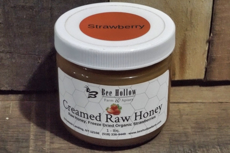 Strawberry Creamed Honey