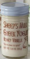 Honey Vanilla Greek Sheep's Yogurt