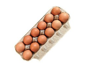 12 dozen Organic Soy-free Medium Eggs