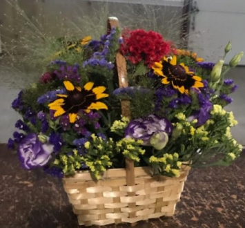 Wildflower Basket Arrangement