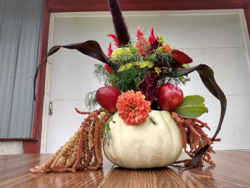 Wildflower Pumpkin Arrangement