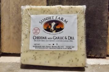 Sunset Farm Garlic and Dill Cheddar