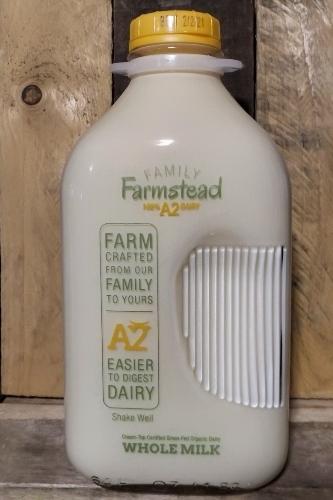 Family Farmstead A2 Cream-Top Certified Grass-fed Organic Whole Milk Half Gallon (GLASS)